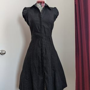 Black Polka for shirt dress